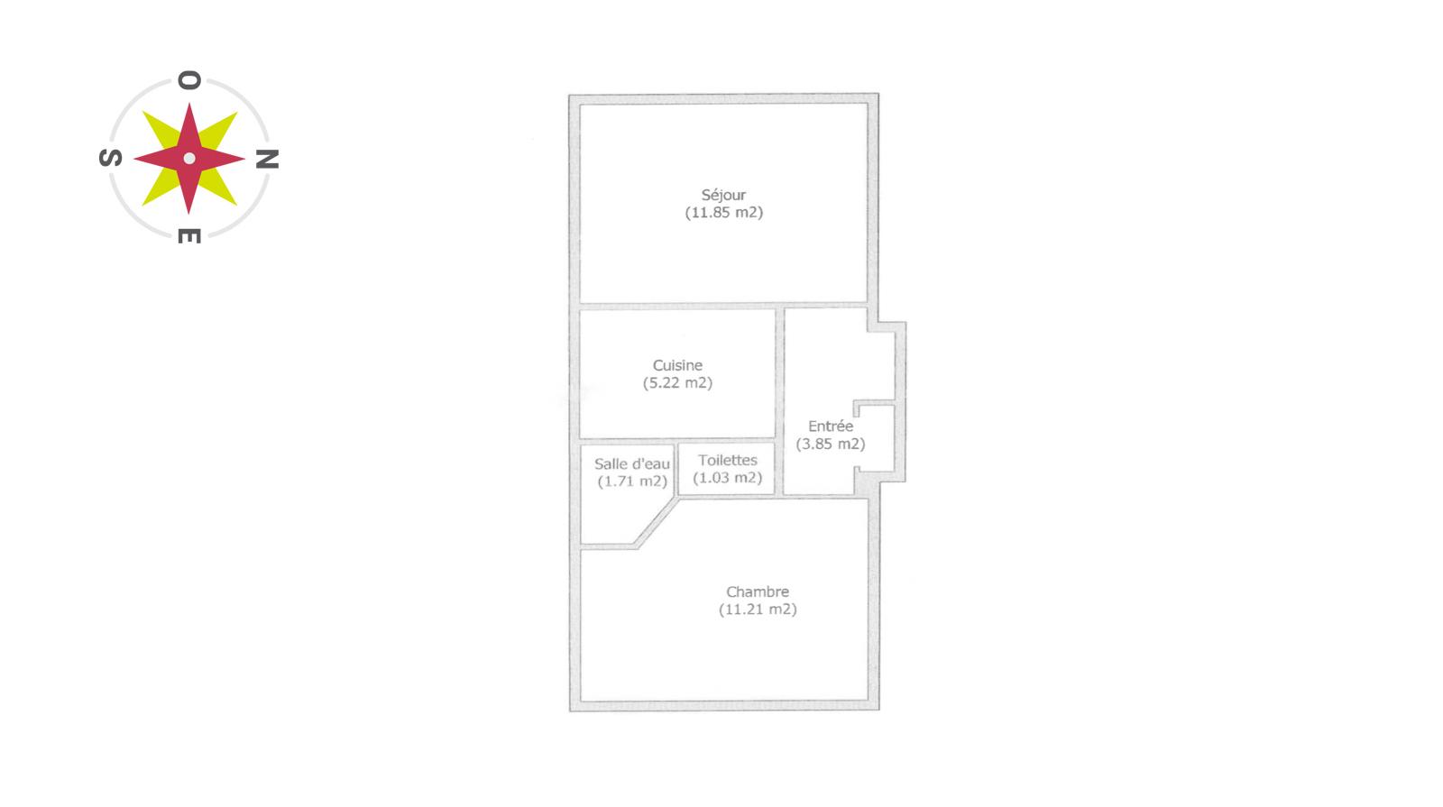 Clichy Salengro 2 Pièces 5e étage 35m2 299000€