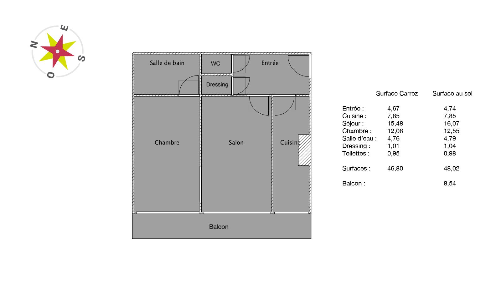 Boulogne Marcel Sembat 2 pièces 1er étage sur jardin 47m2 460000€