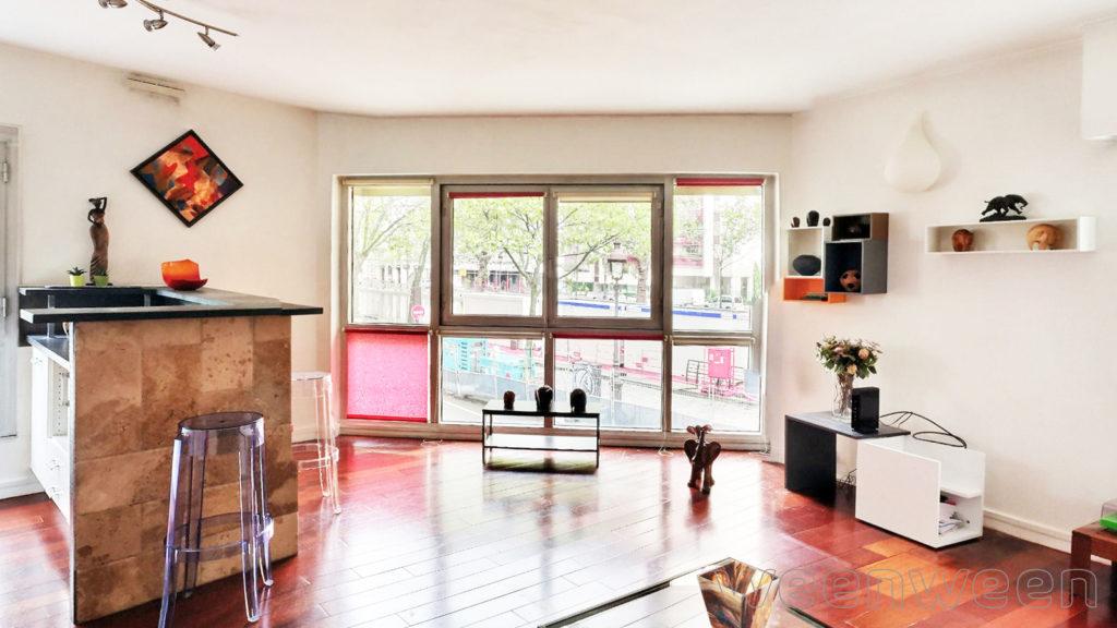 Paris 10 Valmy Canal Saint Martin 3 pièces 69m2 1er étage sur quai 884000€