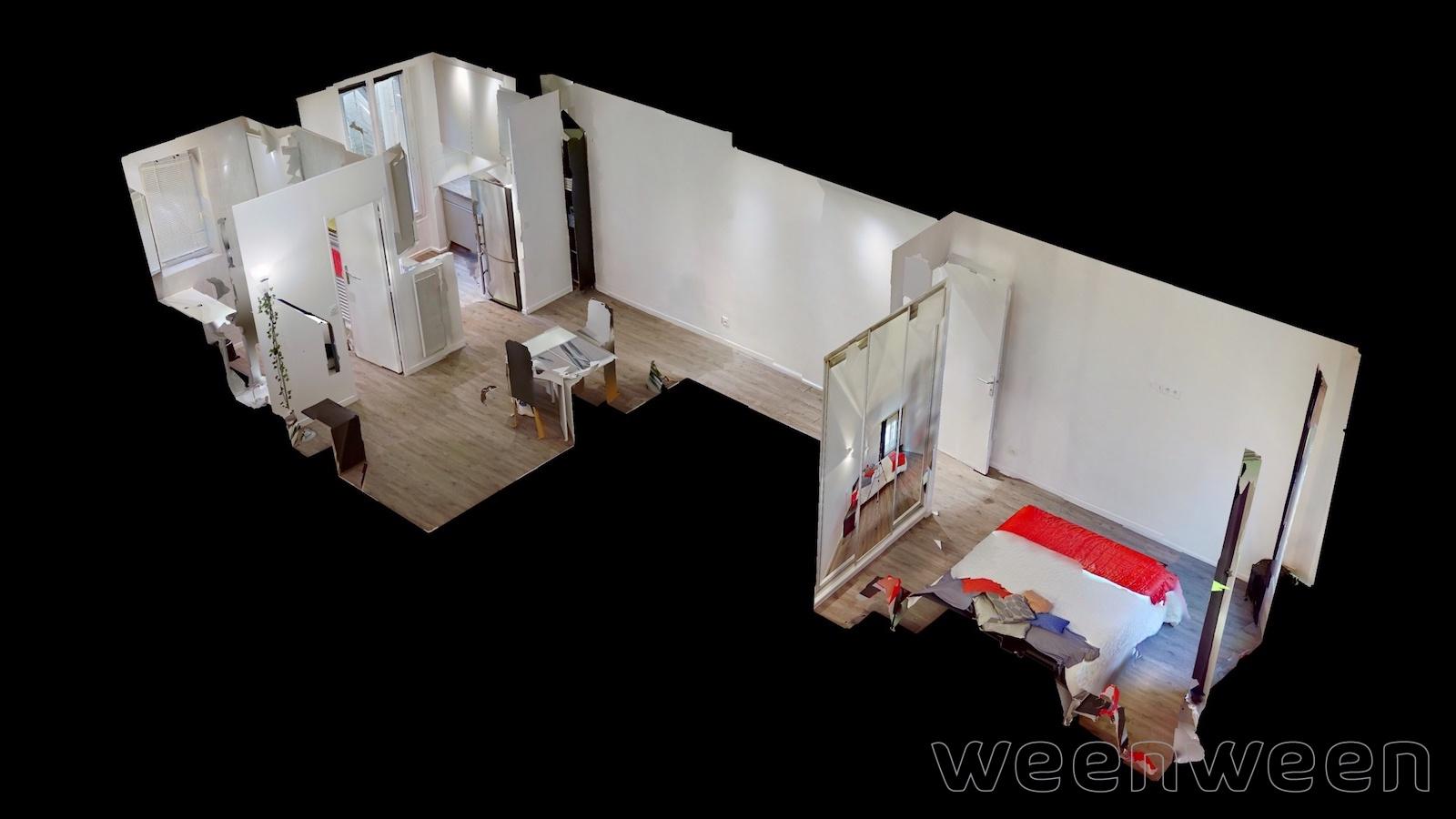 Paris 11 Voltaire Charonne 2 pièces 34m2 1er étage sur cour 481000€